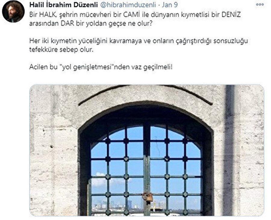 Mimar Halil İbrahim Düzenli'nin tweeti.