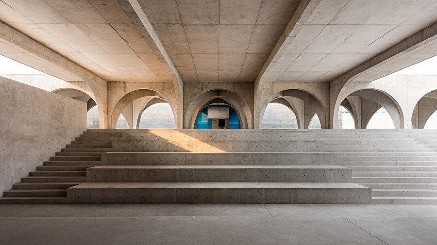Kampüs, projeye bağışlanan betonla inşa ediliyor.