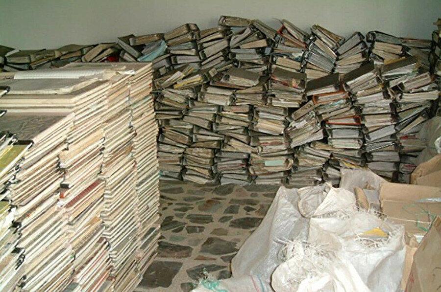 Saddam Baası'nın hafızasının yer aldığı arşiv kayıtlarından bir detay (el-Cezîre)