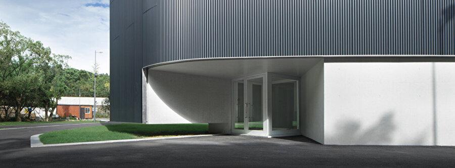Binanın, müzeye açılan giriş bölümü.