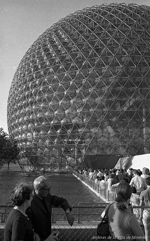 Biyosfer Montreal'ın 1968 yılından bir görseli.
