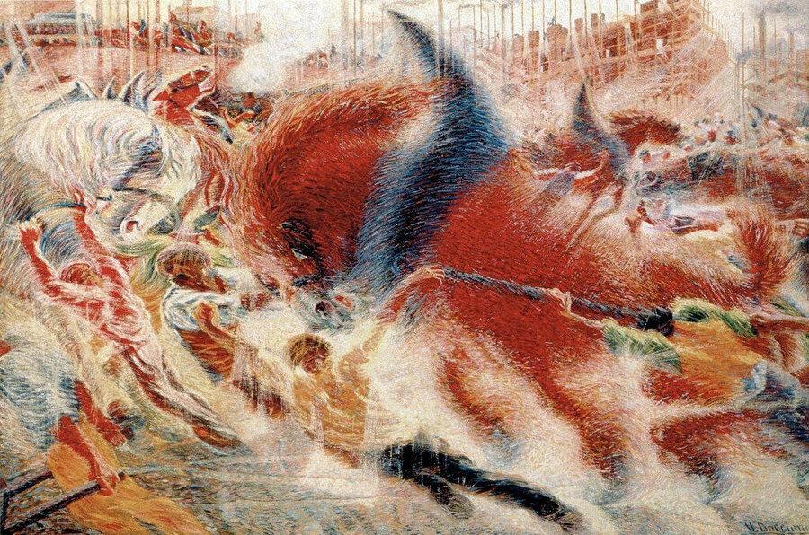 İlk fütürist tablo örneği.