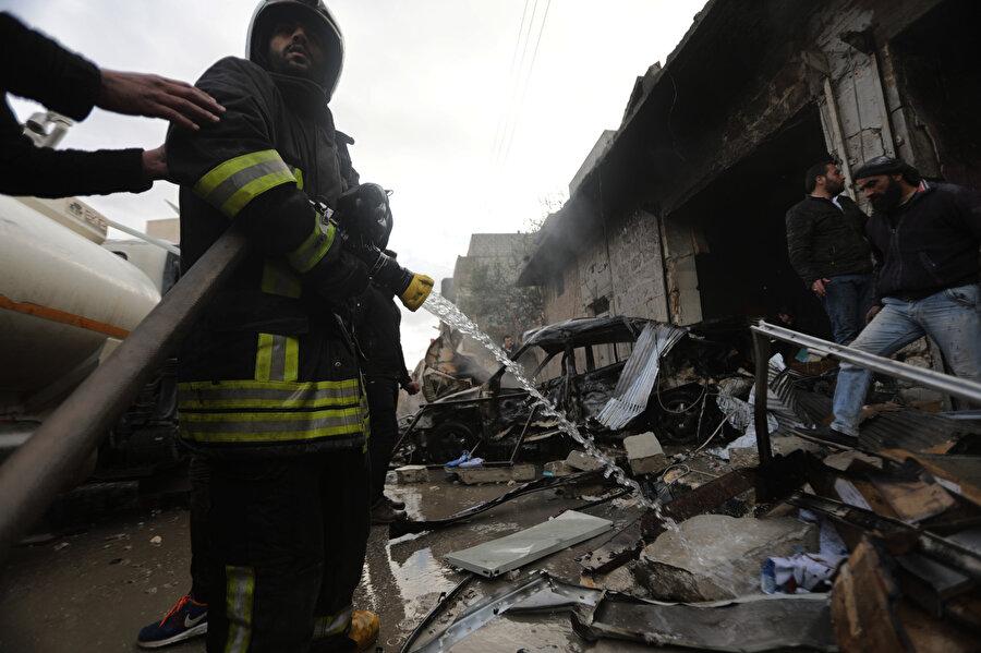 Ev ve araçlarda maddi hasar oluştu
