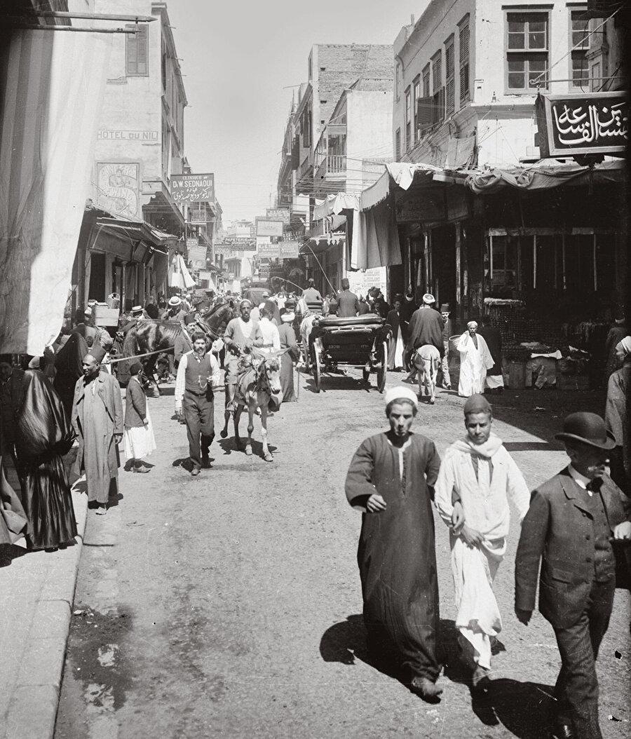 1920'lerin Kahire'sinden bir görünüm.