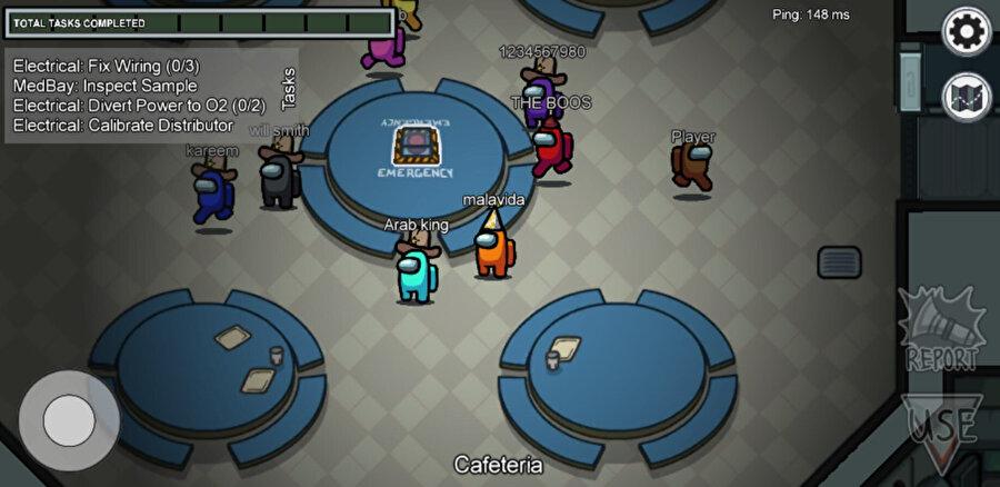 1 ila 3 arasında oyuncu her oyunda rastgele olarak Impostor seçilirken geri kalanlar Crewmate'dir.