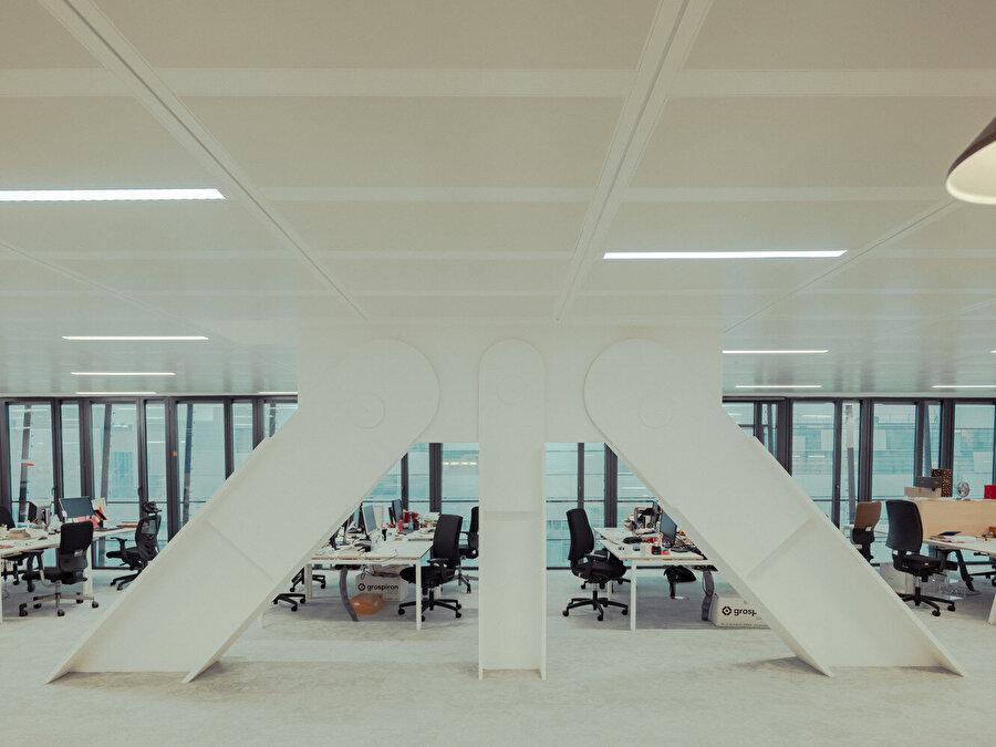 Açık ofis alanları.