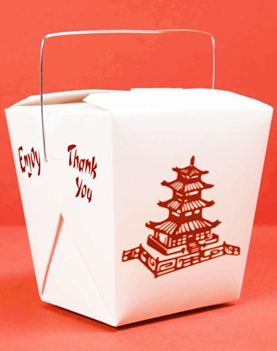 ABD'de tüketilen Çin yemeklerinin servis edildiği kutu