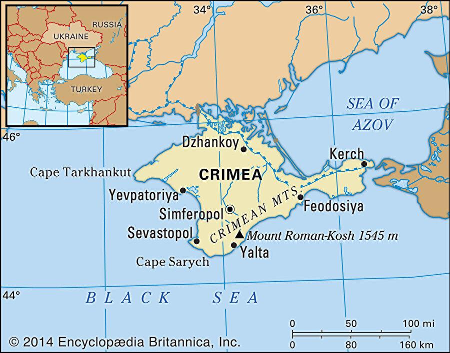 Kırım, Karadeniz'in kuzeyinde kritik bir konumda yer alır.