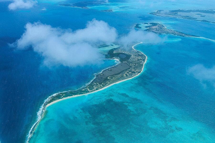 Los Roques Adaları.