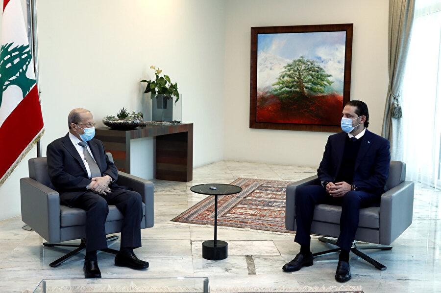Hariri bugün Cumhurbaşkanı Mişel Avn ile bir araya geldi.
