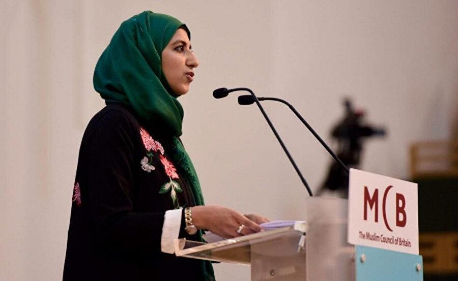 Britanya Müslüman Konseyinin (MCB) ilk kadın başkanı Zara Muhammed.