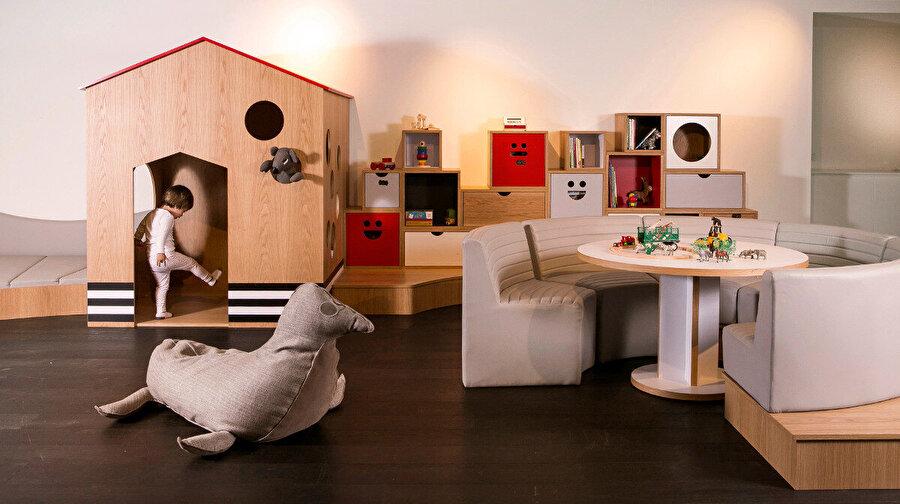 Çocuklar için tasarladığı farklı konseptlere sahip oyun evleri.