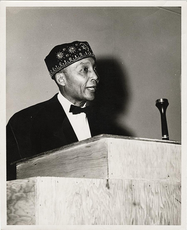 Nation of İslam hareketinin lideri Elijah Muhammed.