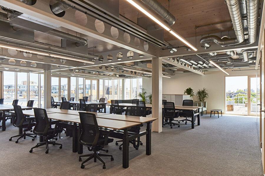 Binadaki ofis alanı.