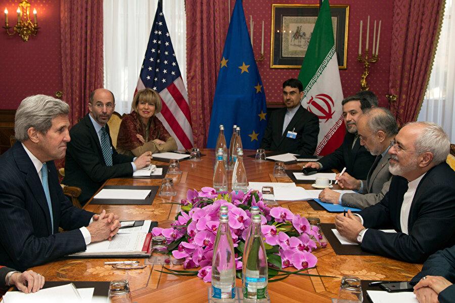 İran'ın nükleer programına ilişkin İran ve ABD arasında İsviçre'de gerçekleştirilen görüşmeler.