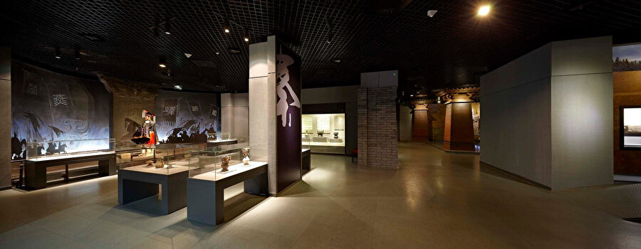 Baoji Bronz Müzesi'nin sergi alanı.