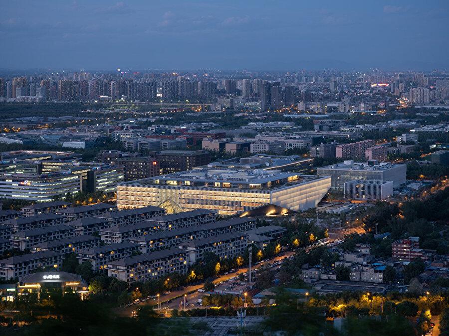 Tencent Genel Merkezi gece görünümü.
