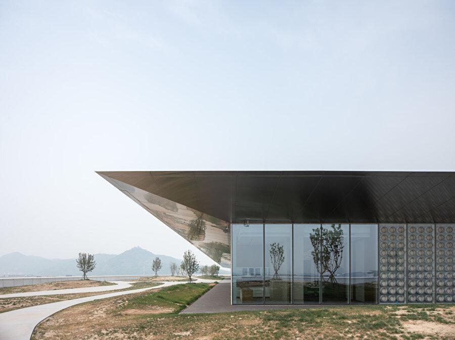 Tencent Genel Merkezi çatı bahçesi.