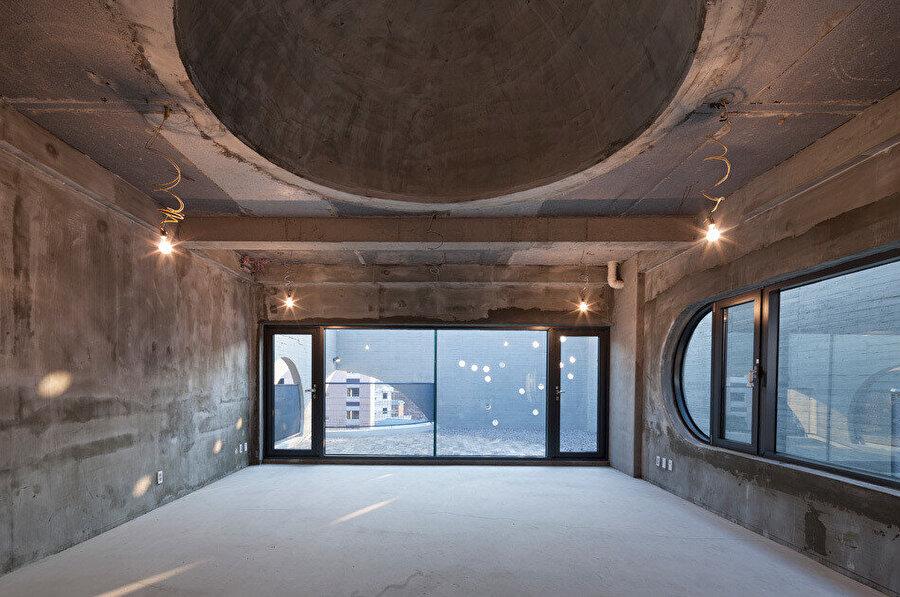 Kiralık binanın son katındaki kubbe.