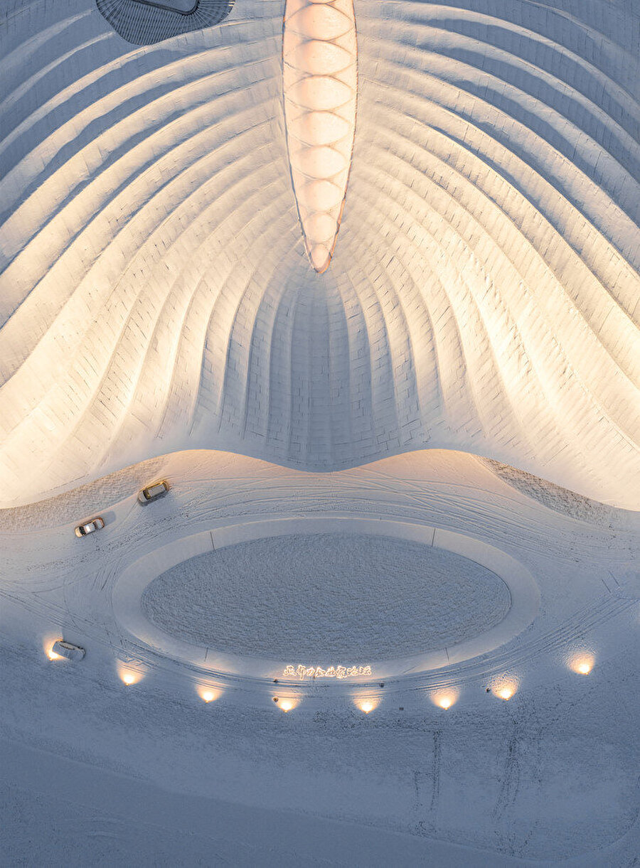 Forumun içindeki kayak merkezi.