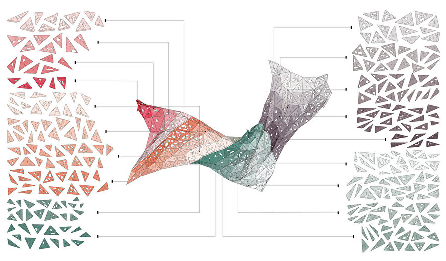 Enstalasyon parçalarını gösteren diyagram.