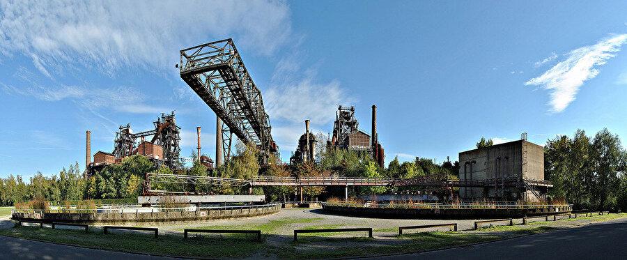 Duisburg Nord Parkı genel görünüm.