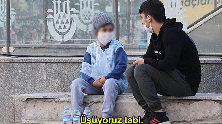 M.B.K. videoda ihtiyaç sahibi biri olarak gösterilmişti