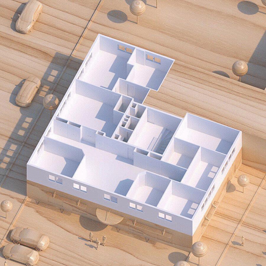 Tasarım öncesi ofis planı.