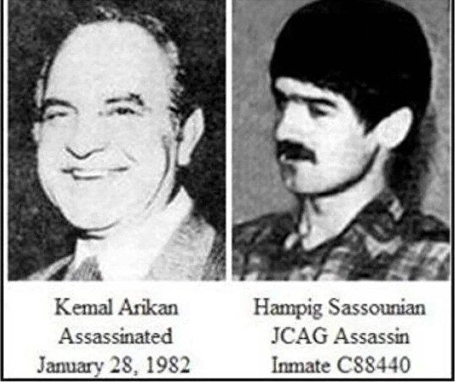 Kemal Arıkan ve katil Hampig Sasunyan