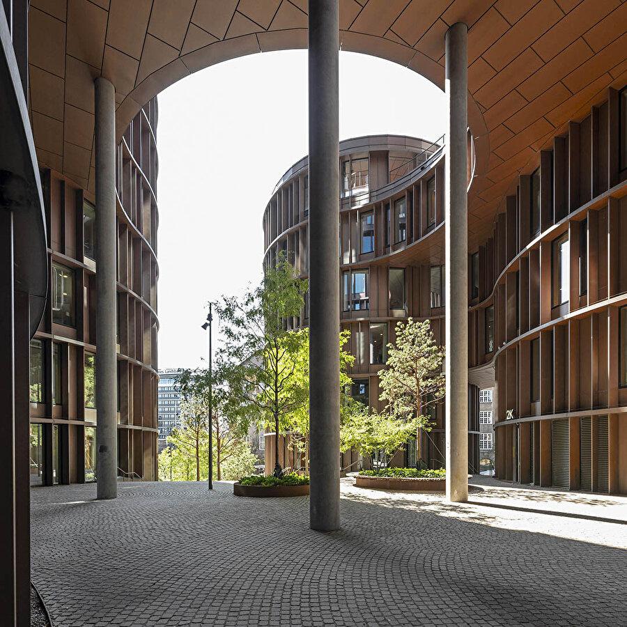 Axel Towers, dairesel formlardan oluşuyor.
