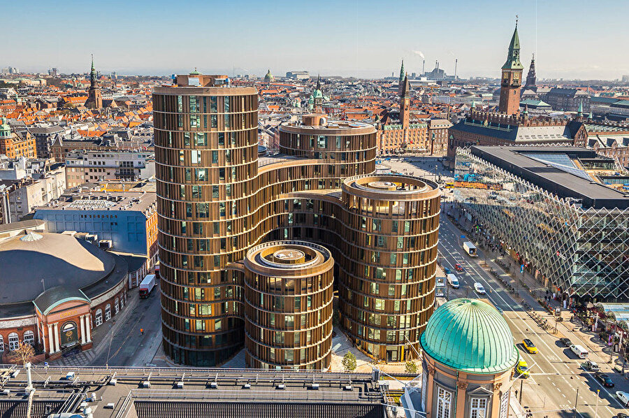 Axel Towers ve Kopenhag.