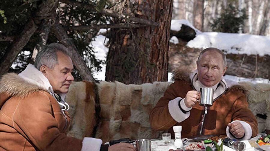 Putin'in Sibirya tatilinden bir fotoğraf