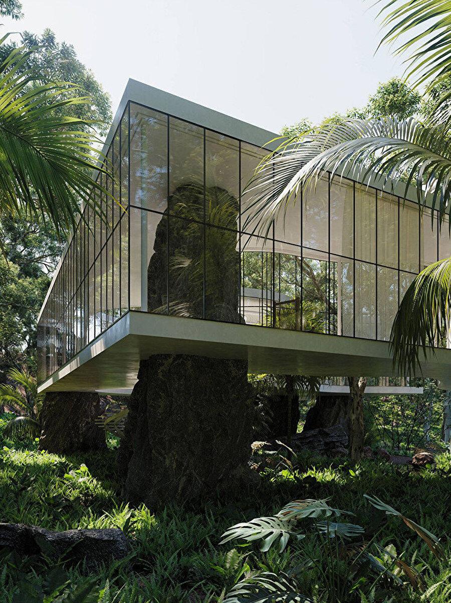 Casa Atibaia, peyzajın içinde şekil buluyor.
