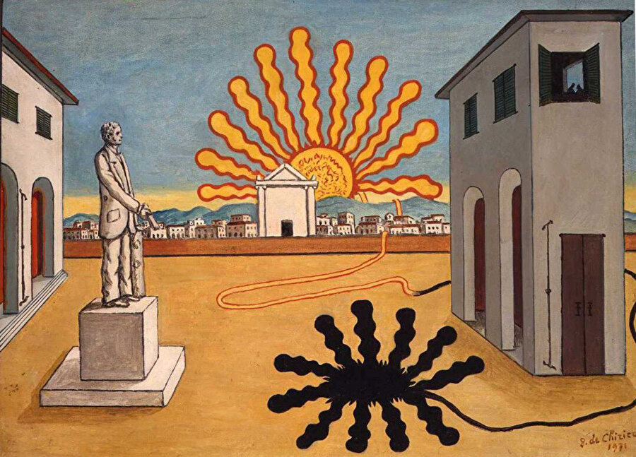 Italian Piazza with Sun Turned Off, 1971.