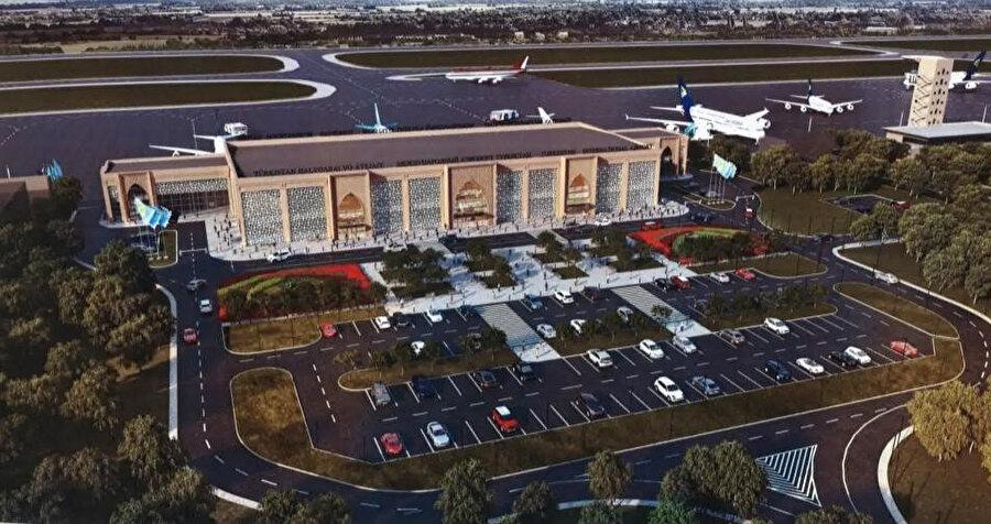 Uluslararası Türkistan Havalimanı, 1 Aralık 2020'de hizmete açıldı.