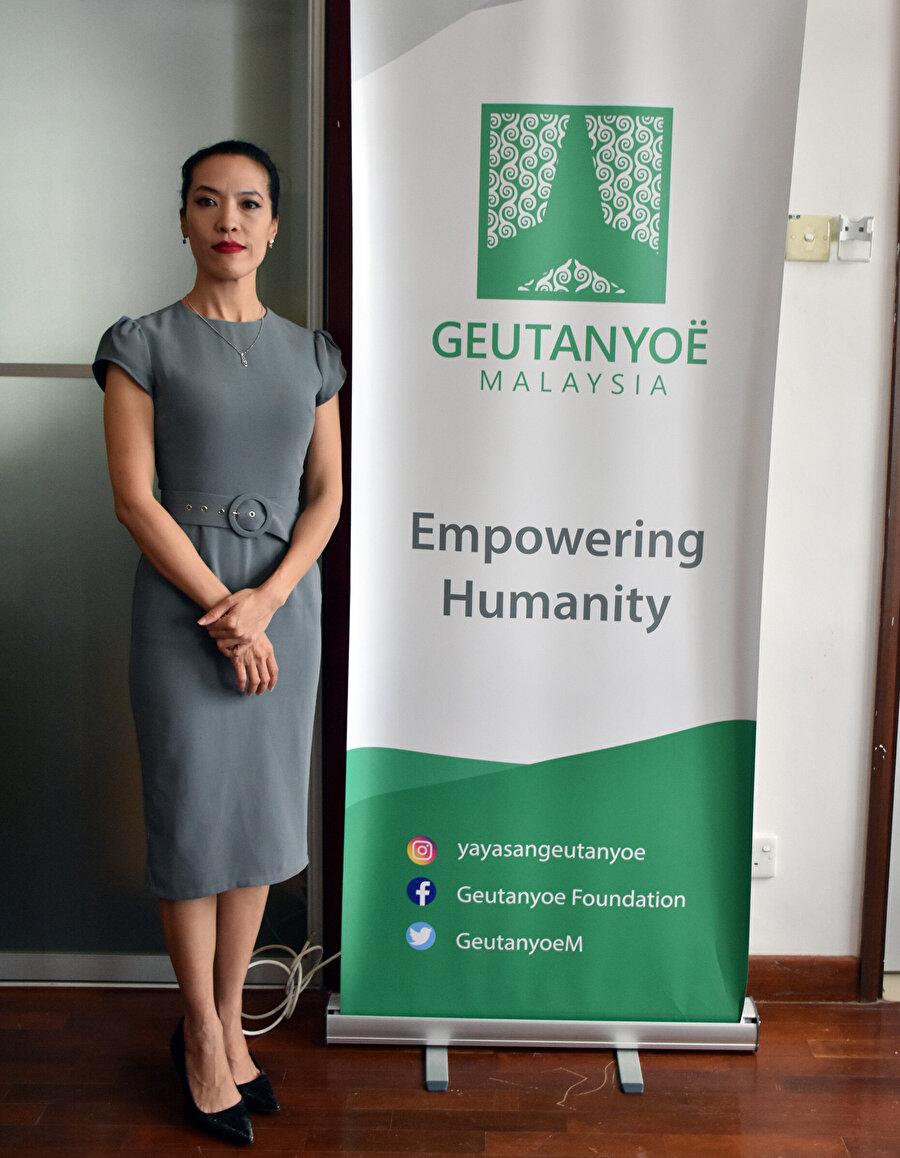 Malezya ve Endonezya'da mültecilere yardım amaçlı faaliyet gösteren Geutanyoe Vakfının Kurucusu ve Uluslararası Direktörü Lilianne Fan.