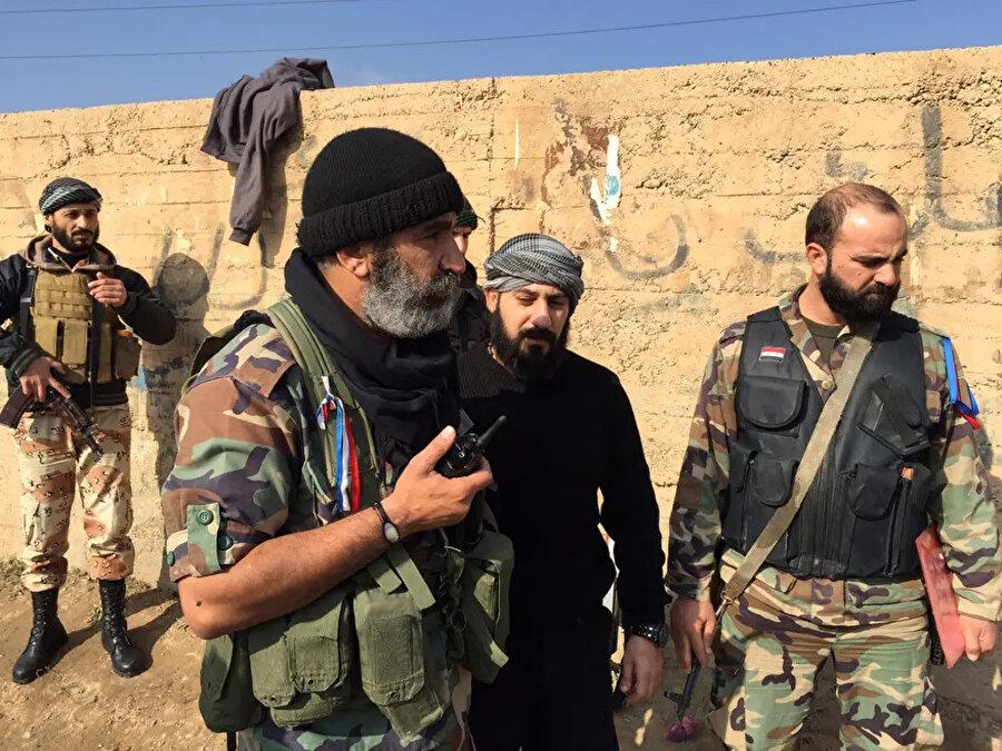 Suriye'de faaliyet gösteren Esed rejimi yanlısı militanlar.
