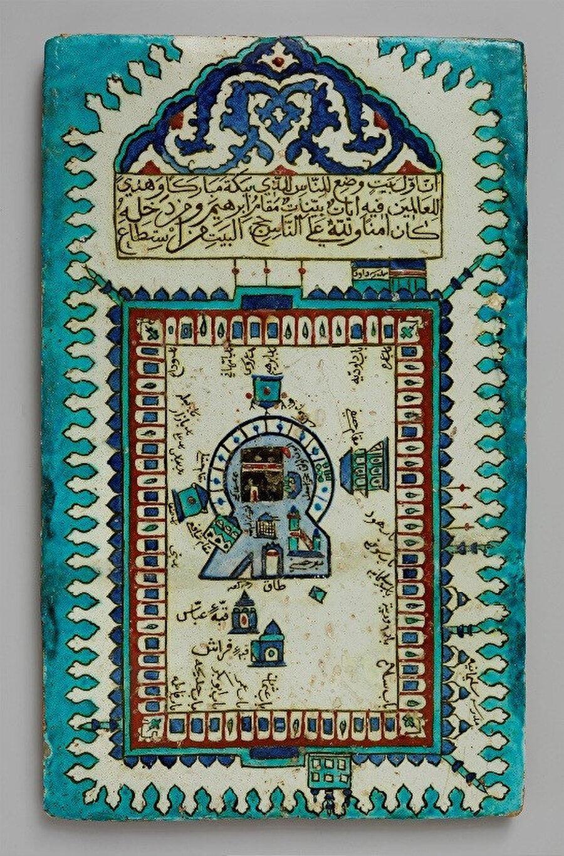 Kâbe tasvirli çini pano, İznik, 1640-43, Aga Khan Museum, AKM587