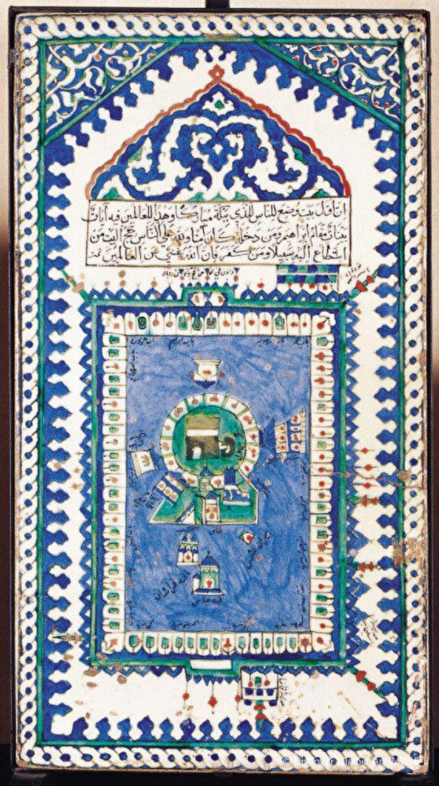 Kâbe tasvirli çini pano, 16. yy son çeyreği, Türk İslam Eserleri Müzesi, 827