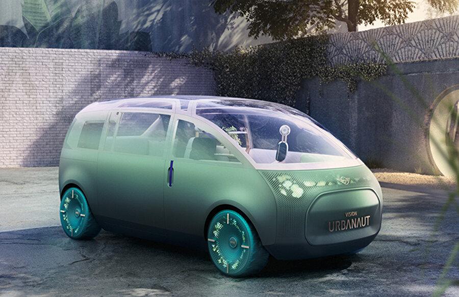 Vision Urbanaut, metalik yeşil bir gövdeye sahip.