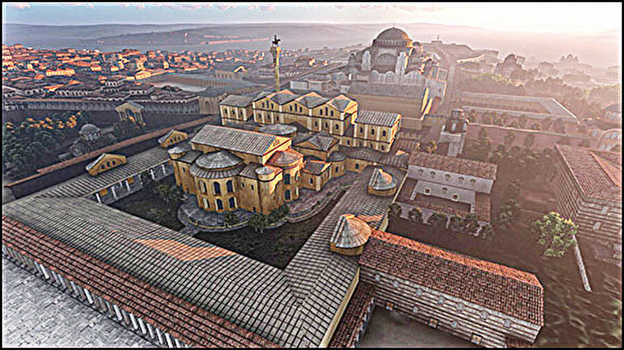 Hayallerindeki Ayasofya ve Bizans sarayı