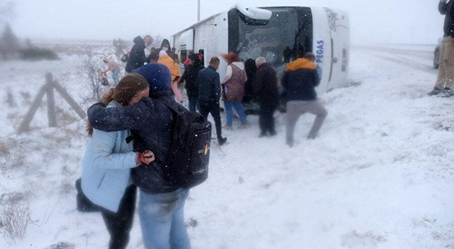 Konya'da yaşanan kazadan görüntü