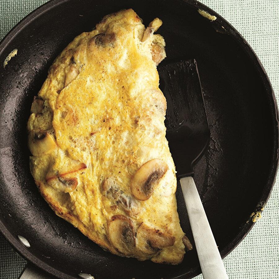 Mantarlı Yulaflı Omlet