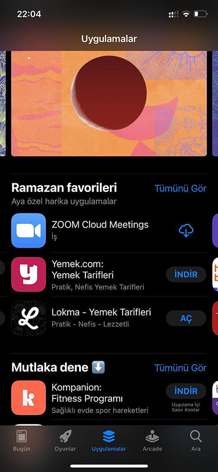 Lokma, AppStore'da 'Ramazan' favorilerinde