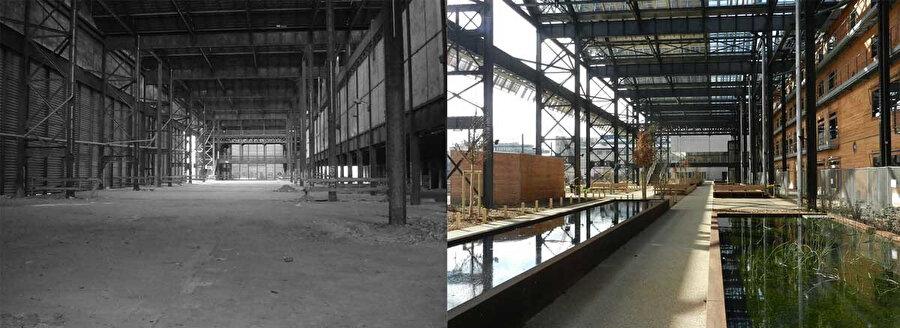 Halle Pajol öncesi ve sonrası.