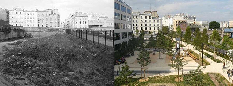 Rosa Luksemburg Bahçeleri öncesi ve sonrası.