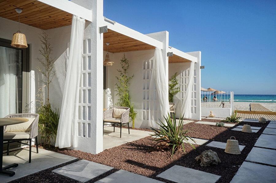 Odaların peyzaja açılan verandaları.