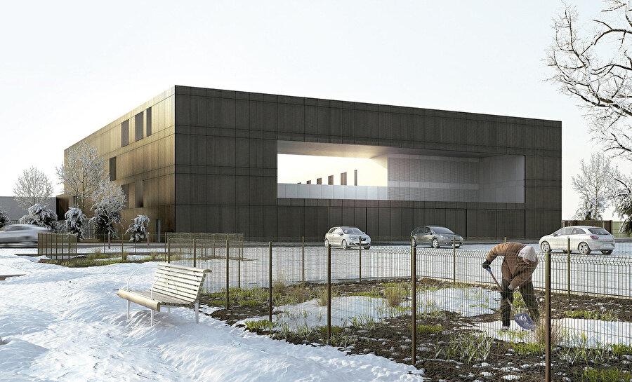 Nanterre Yarı Açık Cezaevi'nin proje görselleştirmesi.