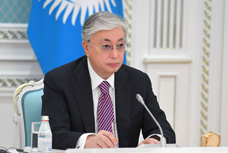 Cumhurbaşkanı Kasım Cömert Tokayev.