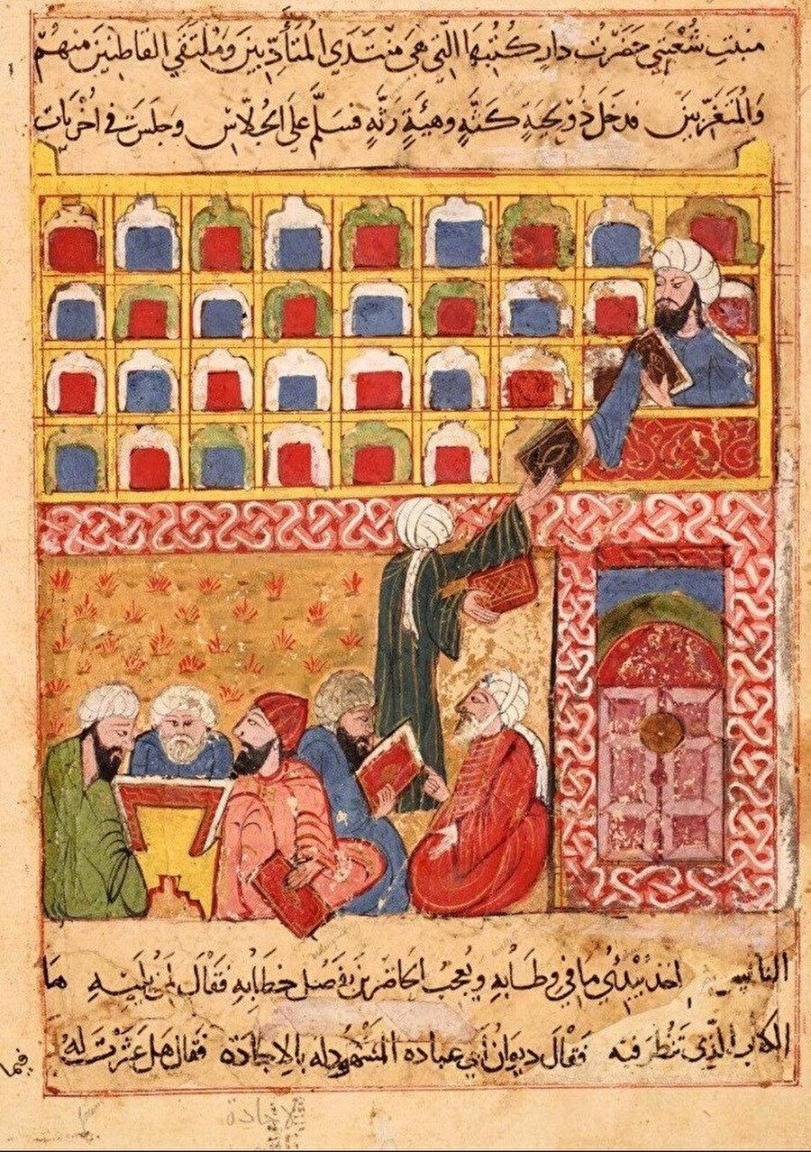Kütüphaneci tasviri (Harîrî'nin el-Makâmât adlı eserinden)